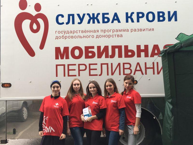 Студенты-волонтеры Астраханского ГМУ принимают участие во Всероссийской донорской акции «Международный день молодого донора»