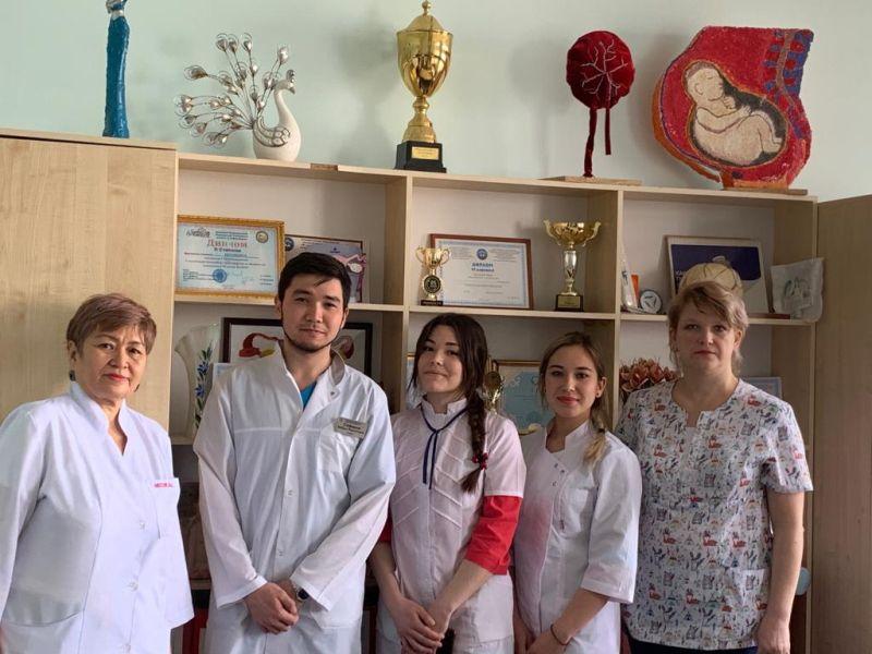 Обучающиеся  лечебного факультета Астраханского ГМУ посетили Западно-Казахстанский медицинский университет имени Марата Оспанова