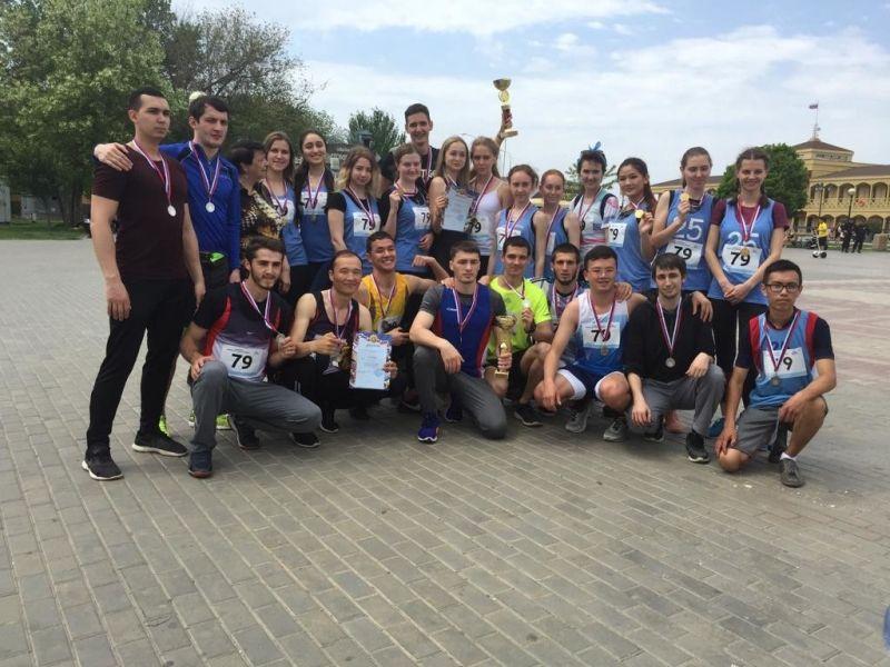 Студенты Астраханского ГМУ заняли призовые места в эстафете, посвященной  Дню Победы в Великой Отечественной войне
