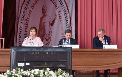 Представление и.о. министра здравоохранения АО Ф.В.Орлова медицинскому сообществу в Астраханском ГМУ