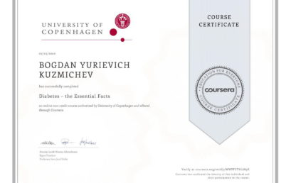 Certificate from University of Copenhagen!